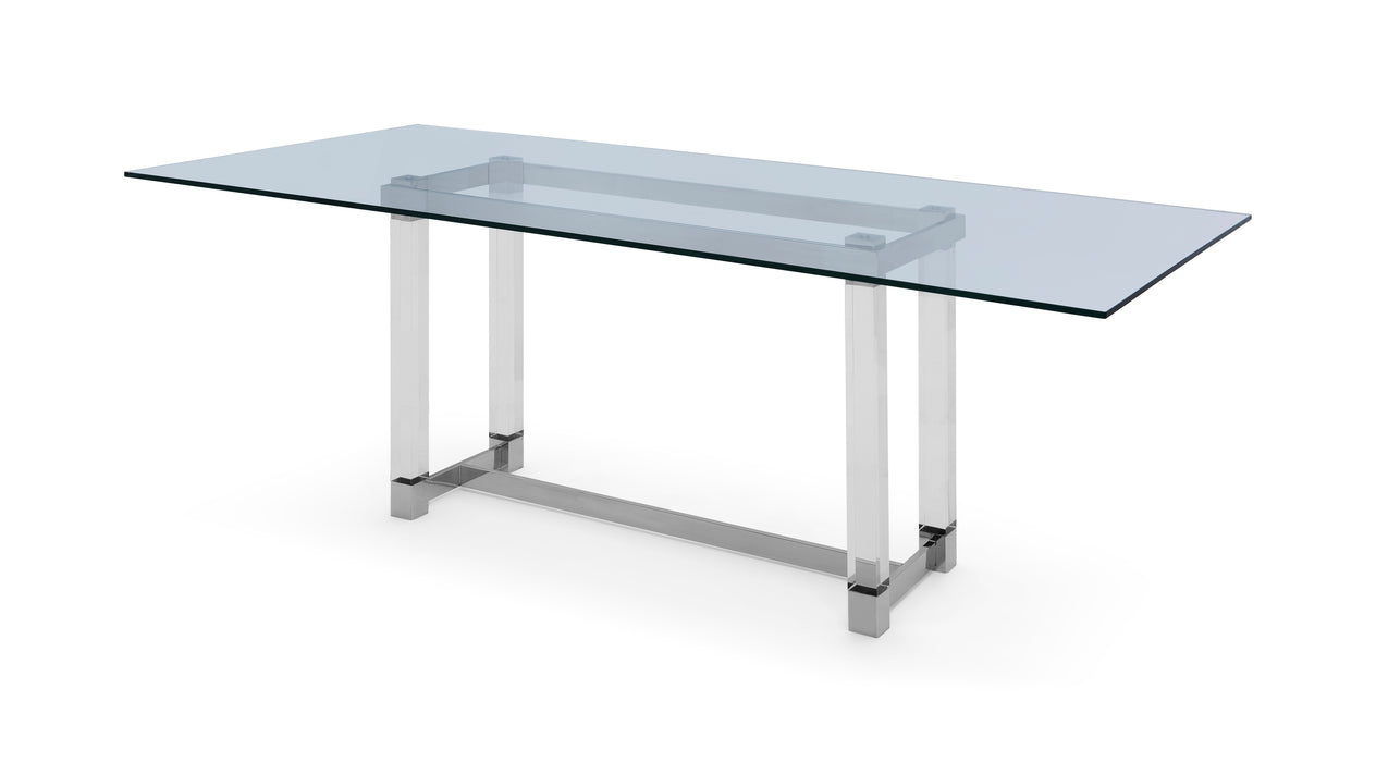 Whiteline Modern Living - Brianna Acrylic Dining Table - UNQFurniture