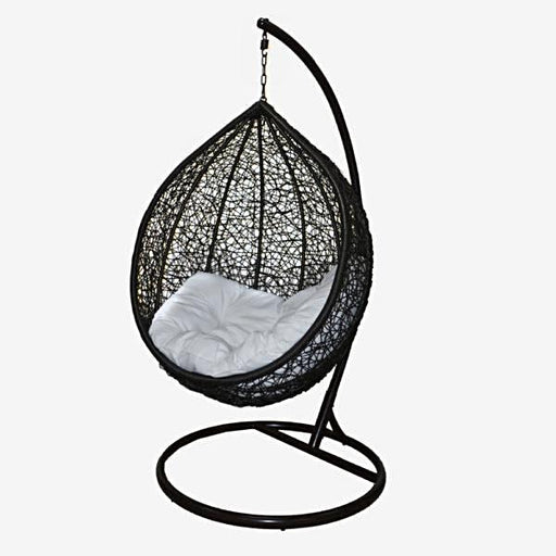 Feruci - Outdoor Patio Hanging Pod Chair w/ Stand - UNQFurniture