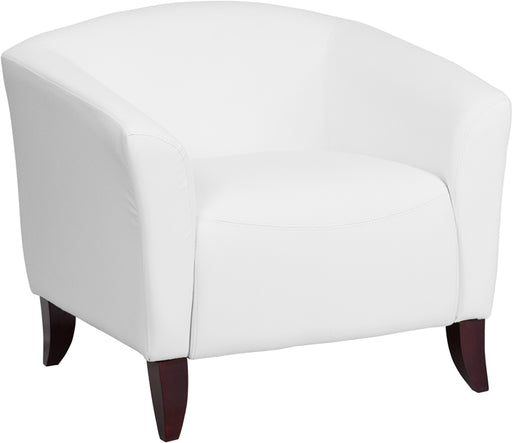 White Leather Chair - UNQFurniture