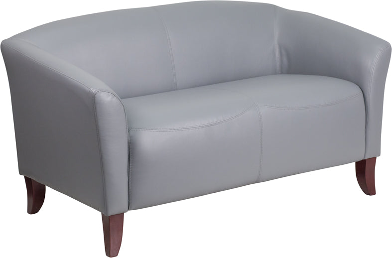 White Leather Loveseat - UNQFurniture