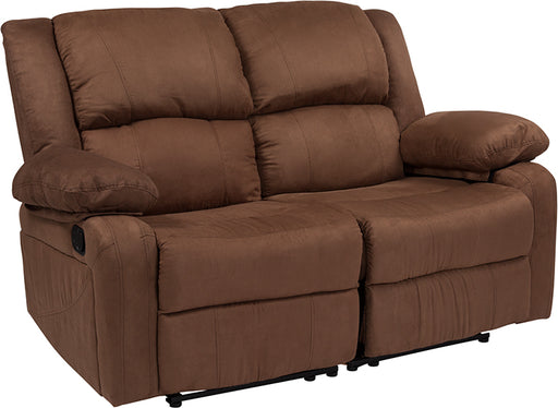 Black Leather Recline Loveseat - UNQFurniture