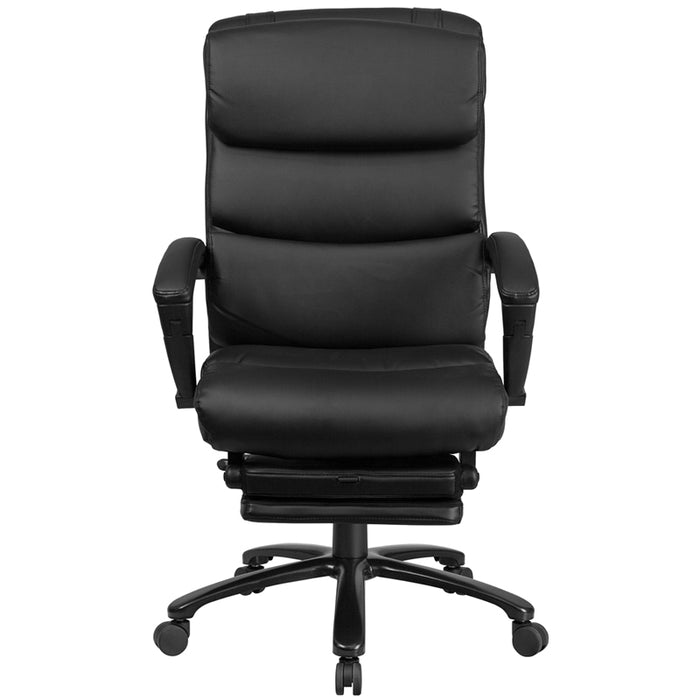 Black Reclining Leather Chair - UNQFurniture