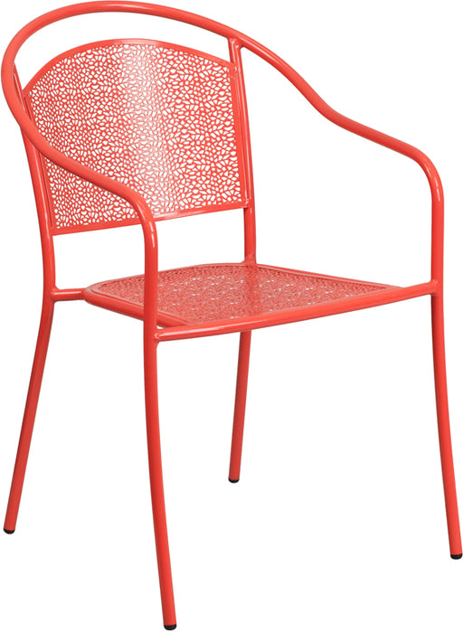 White Round Back Patio Chair