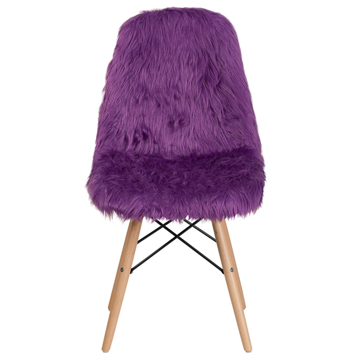 Light Pink Shaggy Chair - UNQFurniture