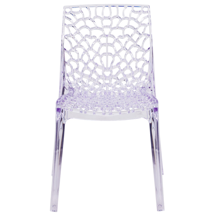 Clear Stacking Side Chair - UNQFurniture