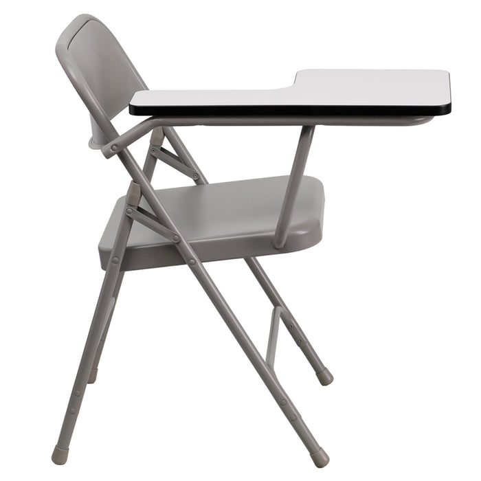 Beige Metal Tablet Arm Chair - UNQFurniture