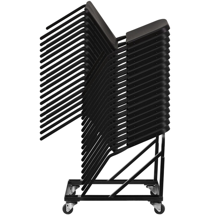 Black Stack Chair Dolly - UNQFurniture
