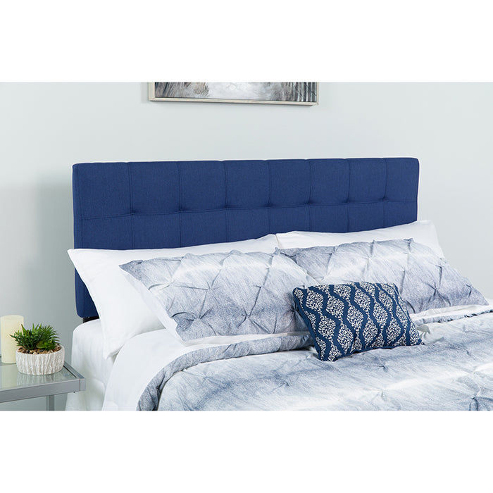 Twin Headboard-White Fabric - UNQFurniture