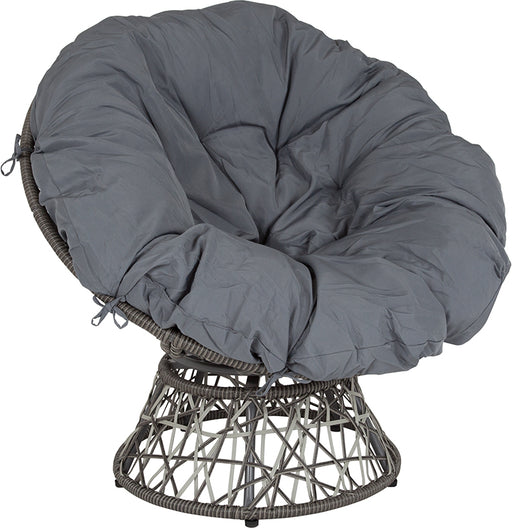 Papasan Swivel Patio Chair