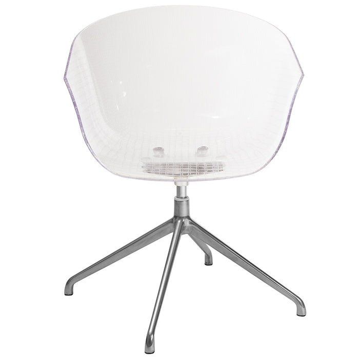 Clear Reception Chair - UNQFurniture