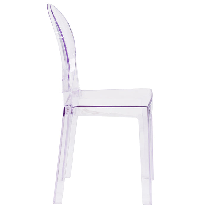 Clear Oval Back Ghost Chair - UNQFurniture