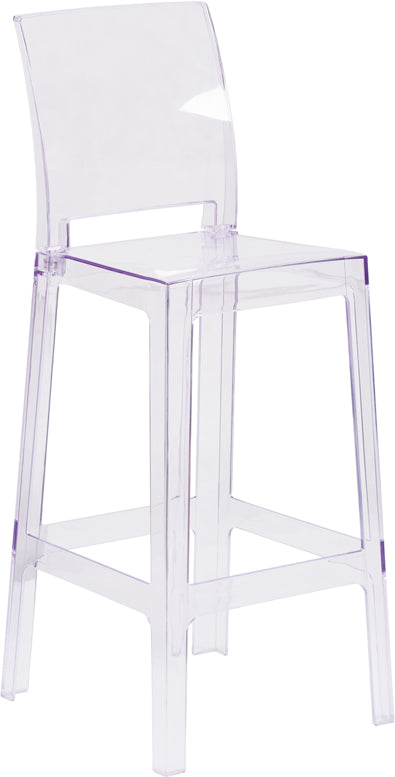 Square Back Ghost Barstool - UNQFurniture