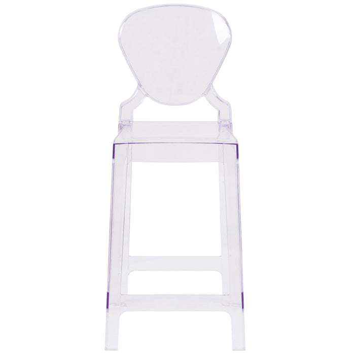 Tear Back Ghost Counter Stool - UNQFurniture