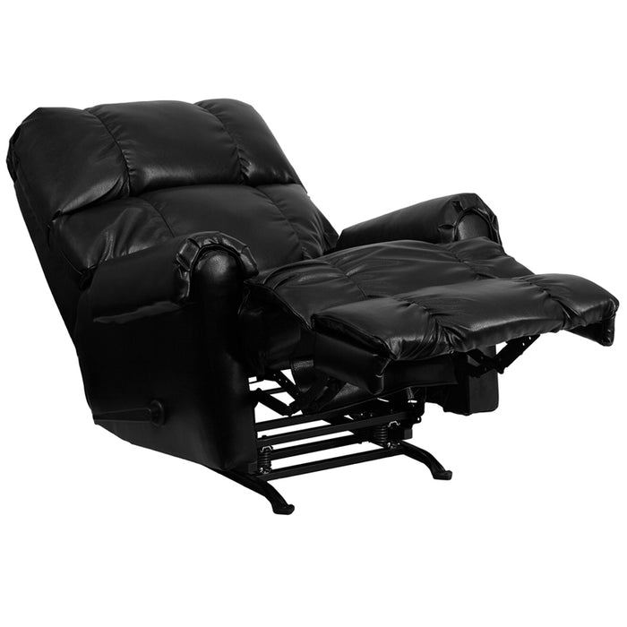 Black Leather Recliner - UNQFurniture