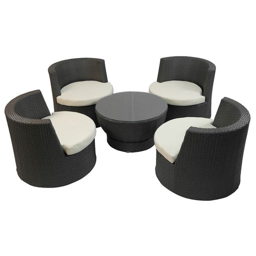 Feruci - 4-Piece Lounge Chair Stackable Tower w/ Coffee Table - UNQFurniture