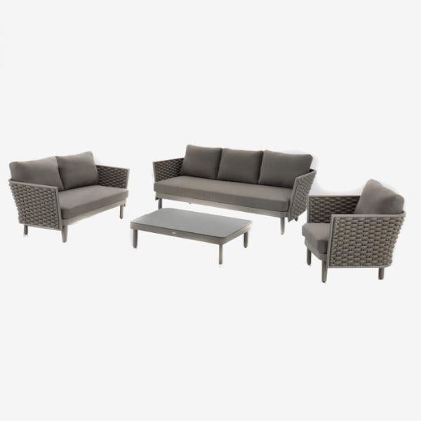 Feruci - Palma 5-Piece Marine Rope Sofa Set w/ Ottoman - UNQFurniture