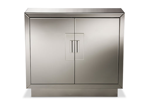 Baxton Studio Regency Modern and Contemporary Hollywood Glamour Style 2-Door Mirrored Accent Chest Storage Cabinet