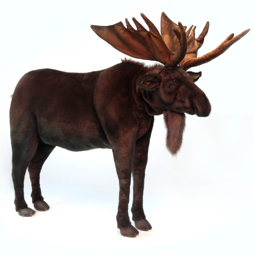 Ride-On Children'S Plush Moose - UNQFurniture