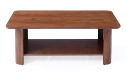 Cureved Wood Coffee Table - Walnut