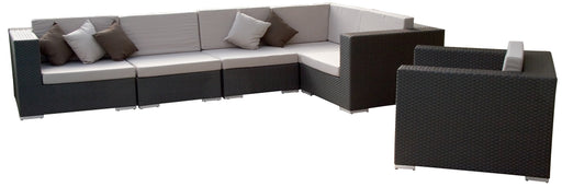 Feruci - Venice Outdoor Patio Sectional w/ Lounge Chair - UNQFurniture