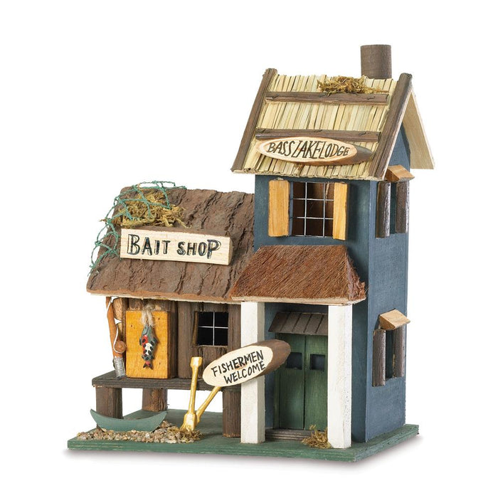 Bass Lake Lodge Wood Bird House - UNQFurniture