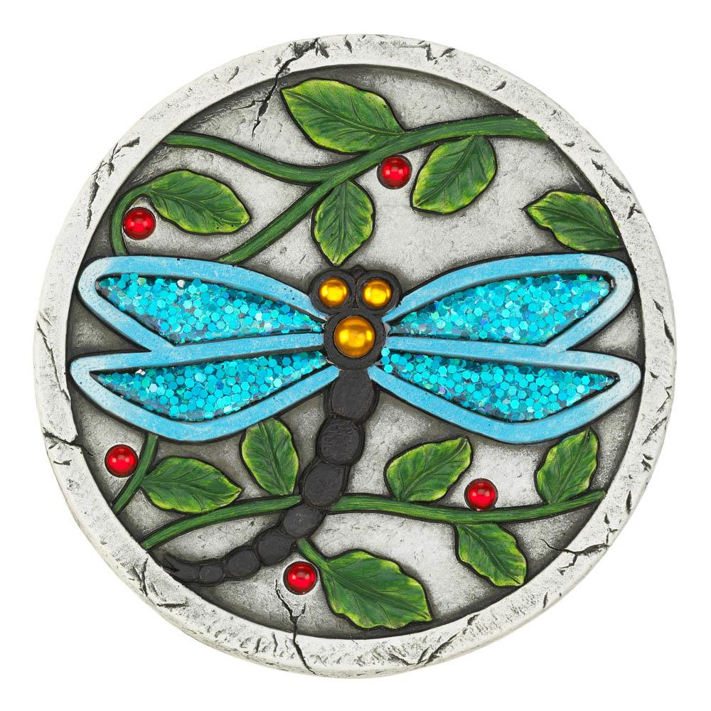 Blue Dragonfly Garden Stepping Stone - UNQFurniture