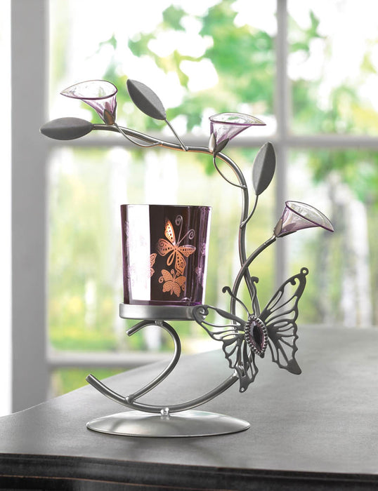 Butterfly Lily Candle Holder - UNQFurniture
