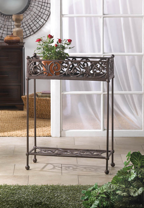 Cast Iron Plant Stand - Two-Tier - UNQFurniture