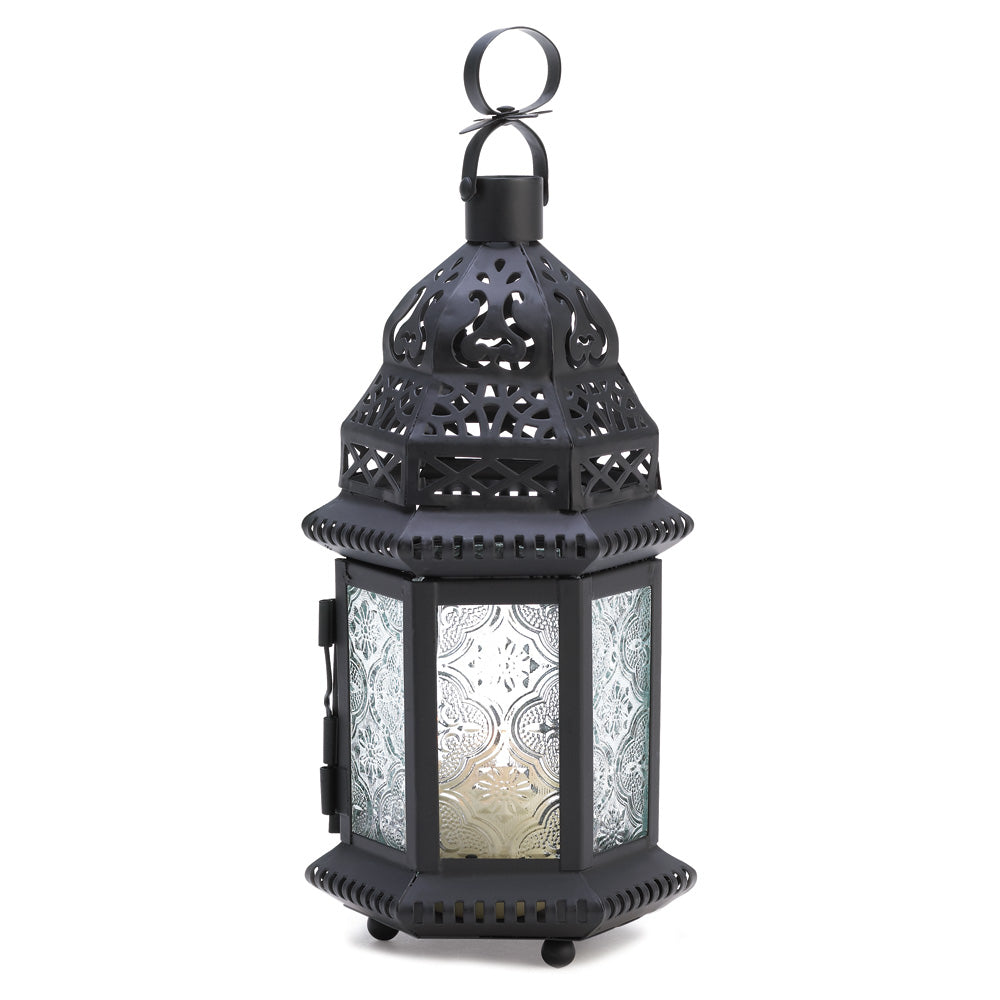 Clear Glass Moroccan Lantern - UNQFurniture