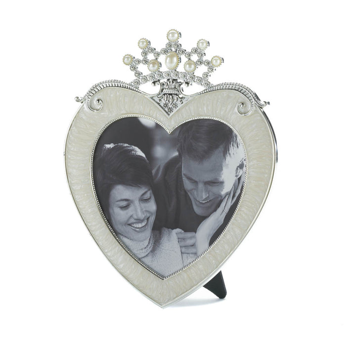 Crown Heart Picture Frame 5 X 5 - UNQFurniture