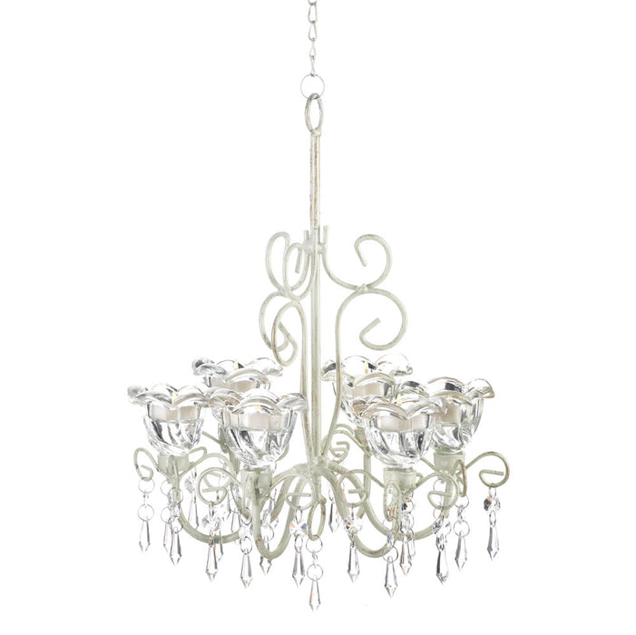 Crystal Blooms Candle Chandelier - UNQFurniture