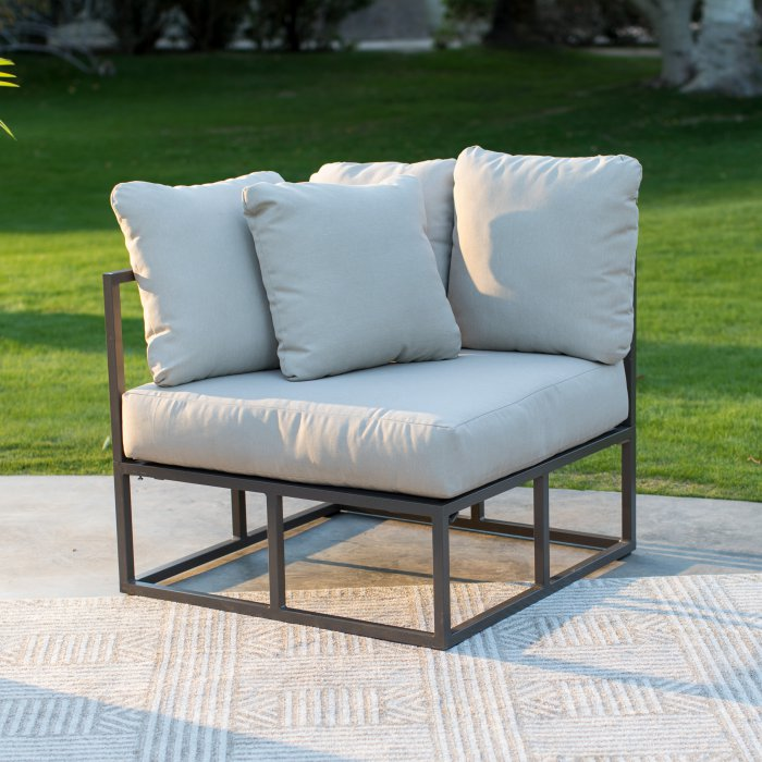 Bonaire Aluminum Outdoor Sectional Set