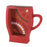 Distressed Red Coffee Cup Shelf - UNQFurniture