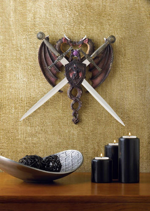 Dragon Duel Plaque - UNQFurniture
