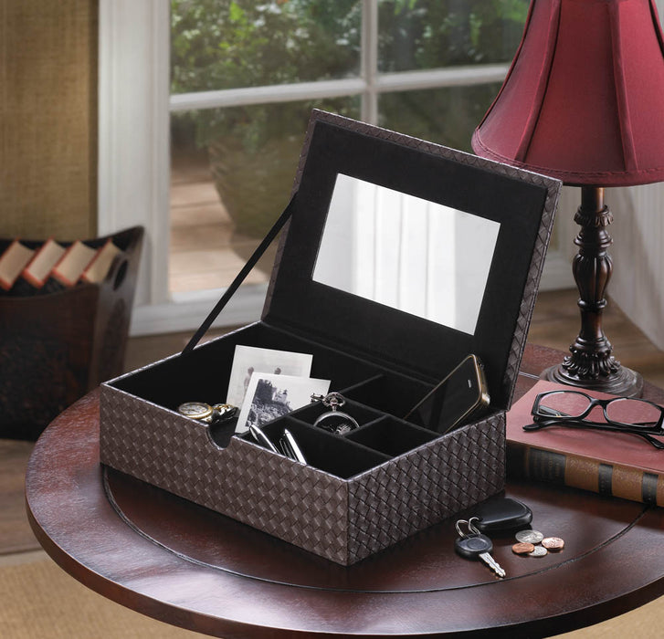 Faux Leather Keepsake Box - UNQFurniture