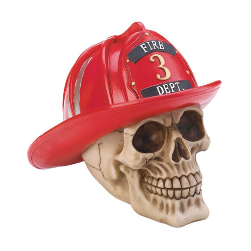 Firefighter Skull Figurine - UNQFurniture