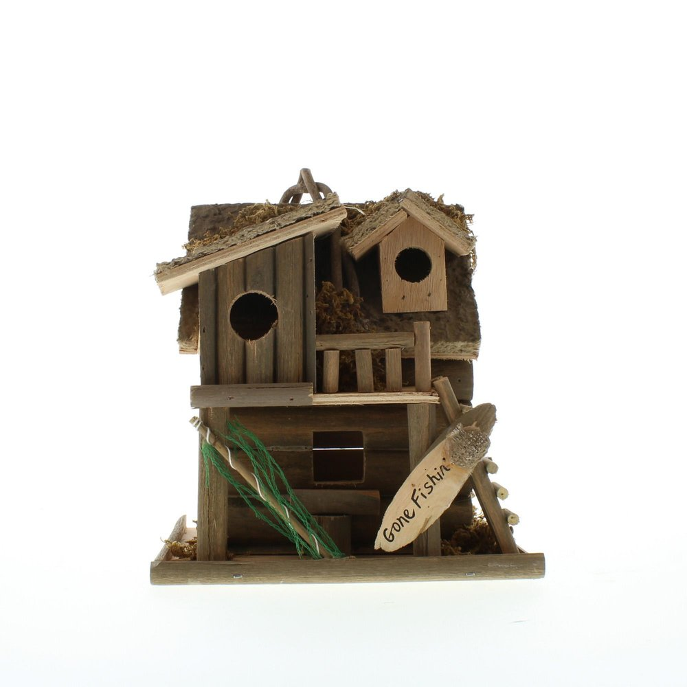 Fishing Cabin Bird House - UNQFurniture