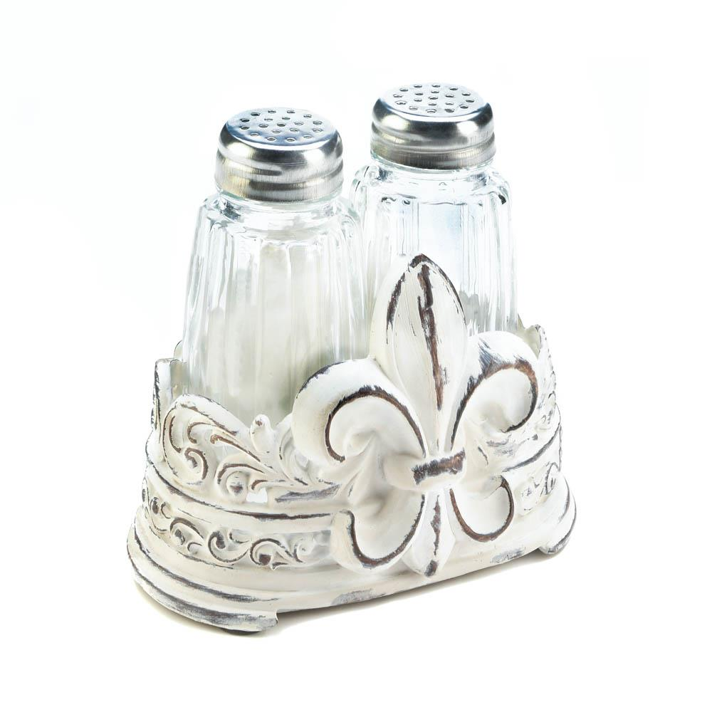 Fleur-De-Lis S&P Holder Set - UNQFurniture