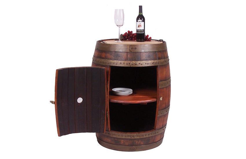 FULL BARREL CABINET ON CASTERS - UNQFurniture