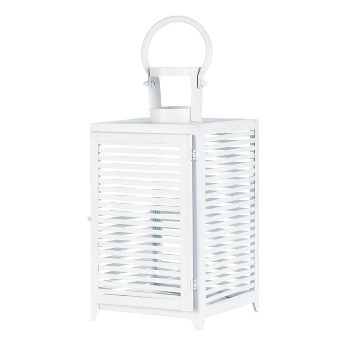 Large White Horizon Lantern - UNQFurniture