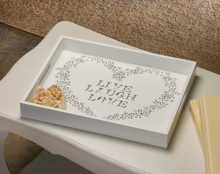 Live Laugh Love Tray - UNQFurniture