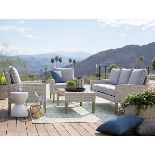Clermont All Weather Wicker 4 Piece Patio Conversation Set