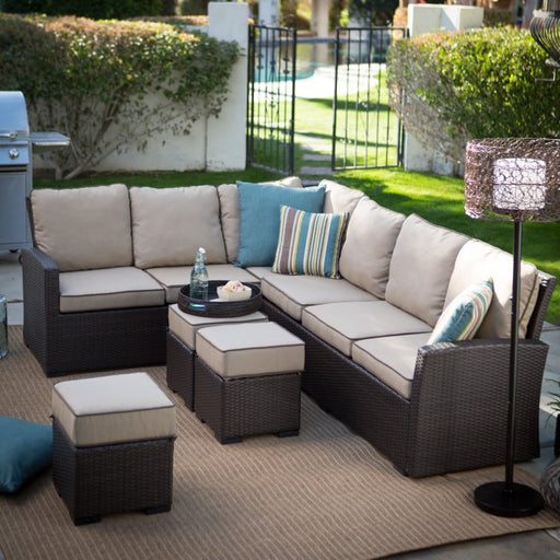 Monticello All-Weather Outdoor Wicker Sofa Sectional Set