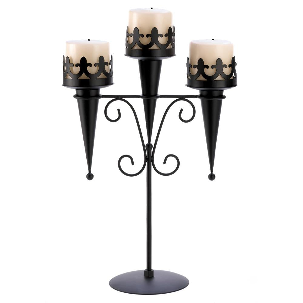 Medieval Triple Candle Stand - UNQFurniture