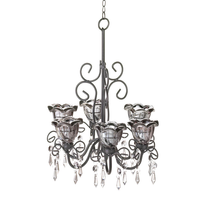 Midnight Blooms Black Chandelier - UNQFurniture