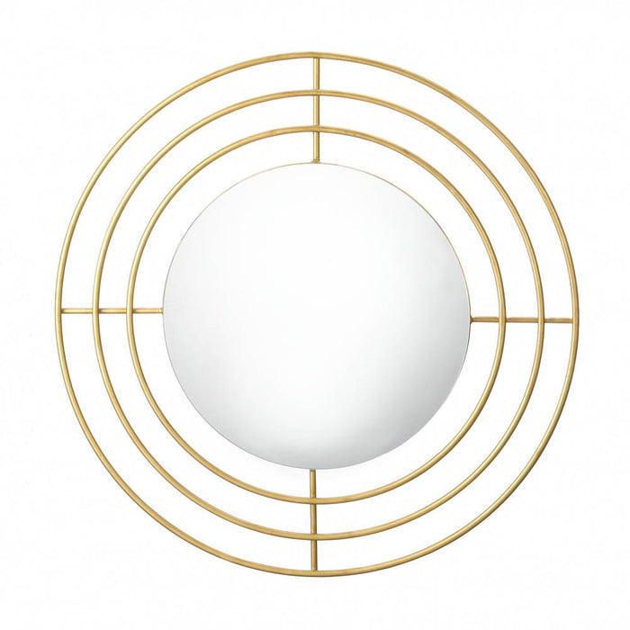 Modern Gold Wall Mirror - UNQFurniture