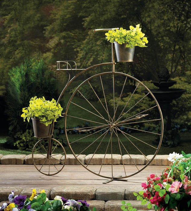 Old-Fashioned Bicycle Plant Stand - UNQFurniture
