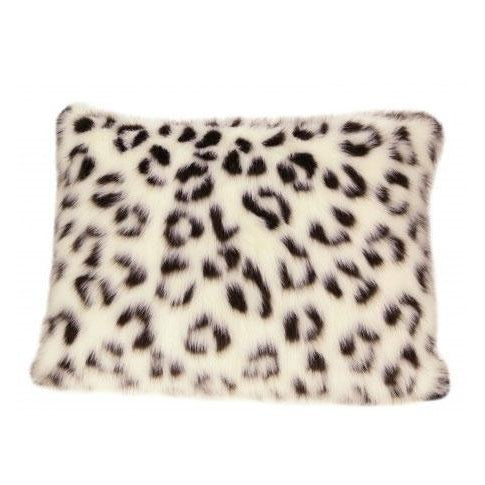 "Snow Leopard Pillow 30"" - UNQFurniture"