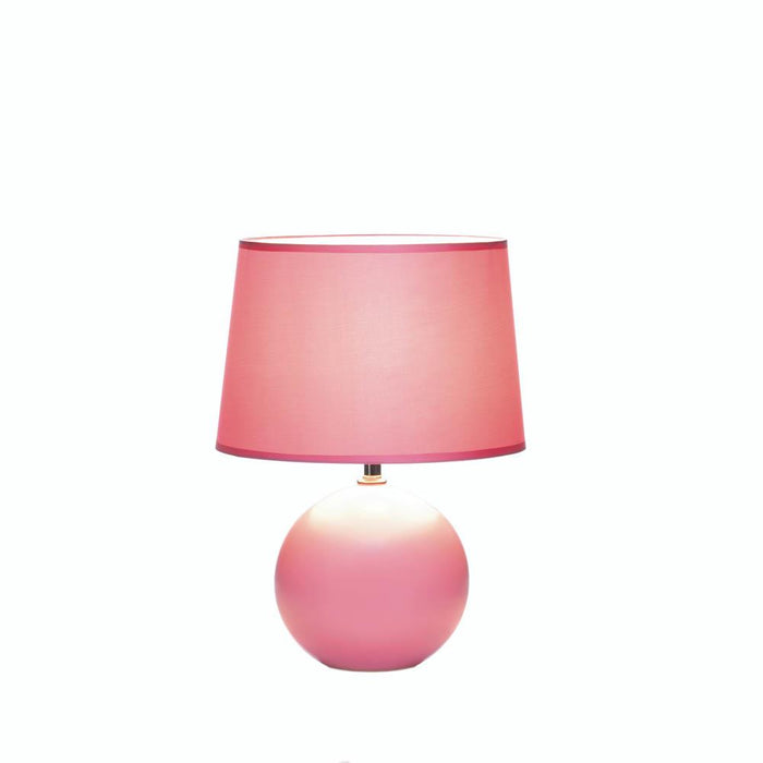Pink Round Base Table Lamp - UNQFurniture
