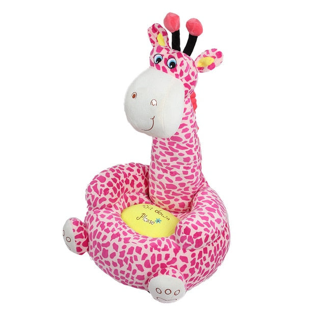 Small Giraffe Plush Toy Nest Chair for Kids - UNQFurniture